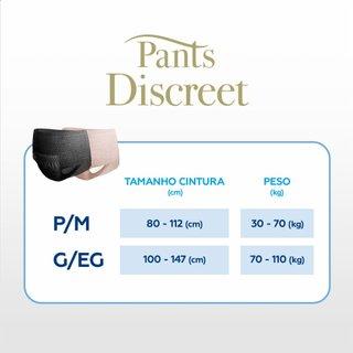 Roupa Íntima Feminina Tena Pants Discreet Black G/eg Com 8 Unidades