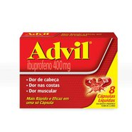 Advil 400mg (leve 8 Pague 6) 8 Capsulas