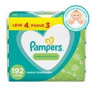 Lencos Umedecidos Pampers Aloe Vera Leve 4 Pague 3 Com 48 Unidades