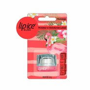 Protetor Labial Lip Ice Cube Morango Flamingo Fps15 6,5g
