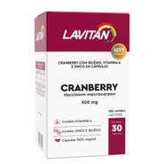 Lavitan Cranberry 500mg Frasco Com 30 Cápsulas