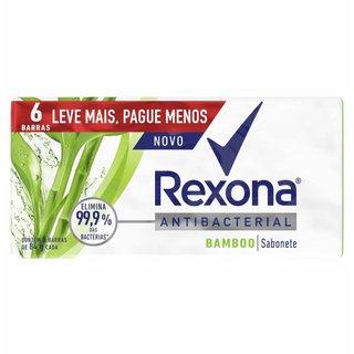 Sabonete Em Barra Rexona Antibacteriano Bamboo 6 Unidades 84g Cada