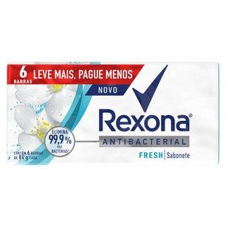 Sabonete Em Barra Rexona Antibacterial Fresh 6 Unidades 84g Cada