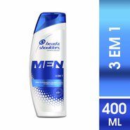 Shampoo De Cuidados Com A Raiz Head & Shoulders Men 3 Em 1 400ml