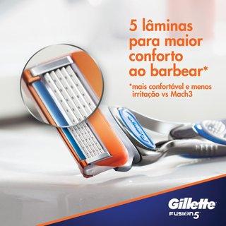 Carga Para Aparelho De Barbear Gillette Fusion5 Com 4 Unidades