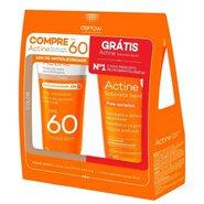 Kit Actine Protetor Solar Color Fps60 40g + Sabonete Líquido Pele Acneica 60ml