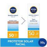 Protetor Solar Facial Nivea Beauty Expert Com Cor Fps 50 50g
