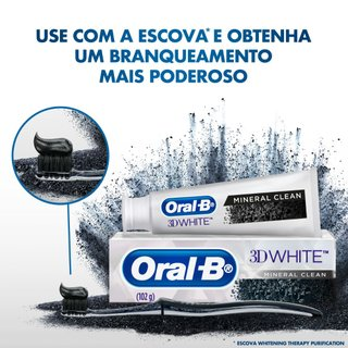 Creme Dental Com Carvão Oral-b 3d White Mineral Clean 102g