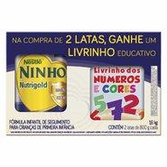 Composto Lacteo Ninho Nutrigold 2x800g Gratis Livro