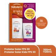 Protetor Solar Helioderm Fps 30 200ml + Protetor Solar Kids Fps 30 120ml
