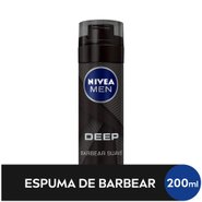 Espuma De Barbear Nivea Deep Black 200ml