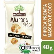 Pipoca Mãe Terra Nupoca Orgânica Açúcar Mascavo E Coco 40g