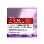Creme Facial Anti-Idade L'Oréal Paris Revitalift Hialurônico Diurno Fps 20 49g