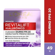 Creme Facial Anti-Idade LOreal Paris Revitalift Hialuronico Diurno Fps 20 49g