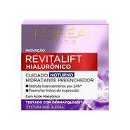 Creme Anti-idade L'oréal Paris Revitalift Hialurônico Cuidado Noturno 49g