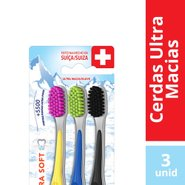 Kit Escova Dental Elmex Ultra Soft C/ 3 Unidades