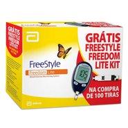 Kit Monitor De Glicemia Freestyle Lite Com 100 Tiras