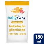 Sabonete Líquido Da Cabeça Aos Pés De Glicerina Baby Dove Hidratação Glicerinada 180 Ml Refil