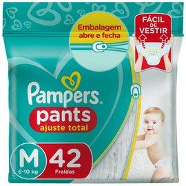 Fralda Pampers Pants Mega Ajuste Total M Com 42 Unidades