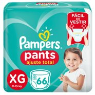 Fralda Pampers Pants Bag Ajuste Total Xg Com 66 Unidades