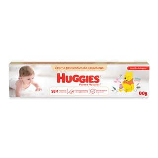 Creme Preventivo De Assadura Huggies Puro E Natural 80g