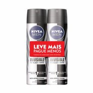 Kit Desodorante Aerosol Nivea Men Black & White Leve Mais Pague Menos 2 Unidades 150ml Cada