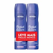 Kit Desodorante Aerosol Nivea Protect & Care Leve Mais Pague Menos 2 Unidades 150ml Cada