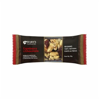 Barra De Nuts Harts Cranberry E Chocolate 35g
