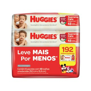 Lenços Umedecidos Huggies Supreme Care Leve 4 Pague 3