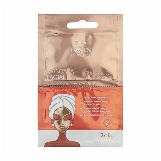 Máscara Facial Vitamina C Com Ouro 24k Panvel Faces Skin Care 2x5g