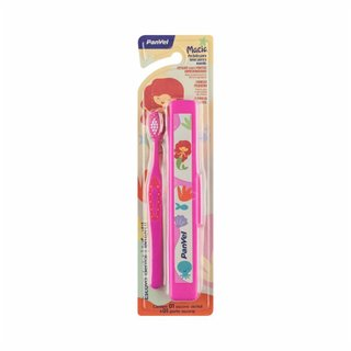 Escova Dental Infantil Panvel Macia Rosa Sereia