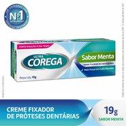 Fixador De Dentadura Ultra Corega Creme Sabor Menta 19g