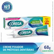 Fixador De Dentadura Ultra Corega Creme Sabor Menta Leve 68g Pague 50g