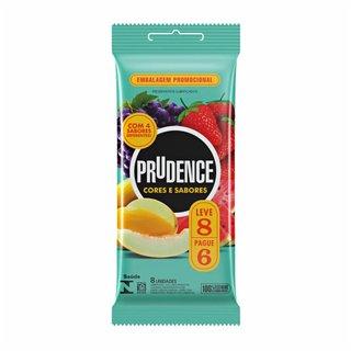 Preservativo Prudence Cores E Sabores Mix Leve 8 E Pague 6