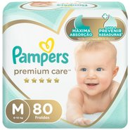 Fralda Pampers Premium Care Bag M Com 80 Unidades