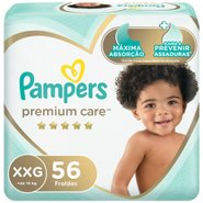 Fralda Pampers Premium Care Bag Xxg Com 56 Unidades