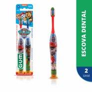 Escova Dental Gum Patrulha Canina Com 2 Unidades