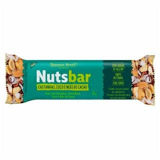 Barra De Nuts Nuts Bar Nibs De Cacau Castanhas E Coco 25g