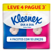 Lenco De Papel Kleenex Dia A Dia Pocket C/10 Leve 4 Pague 3