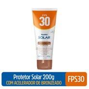 Protetor Solar Com Acelerador De Bronzeado Panvel Solar Fps30 200g