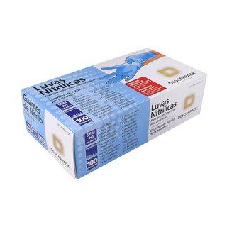 Luvas Nitrílicas Descarpack Azul Sem Pó P Com 100 Unidades