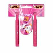 Aparelho Depilatório Bic Confort 3 Pink Com 2 Unidades