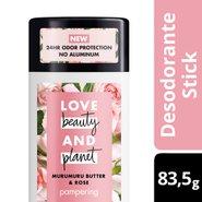 Desodorante Stick Love Beauty And Planet Pampering Manteiga De Murumuru E Rosa 83,5g