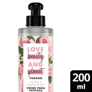 Creme Para Pentear Love Beauty And Planet Curls Intensify Manteiga De Murumuru E Rosa 200ml