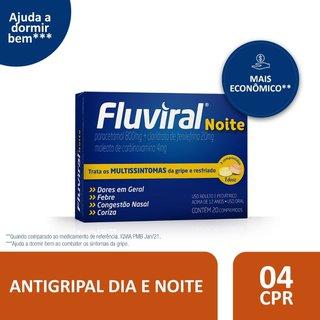 Fluviral Noite 20 Comprimidos Revestidos