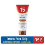 Protetor Solar Com Acelerador De Bronzeado Panvel Solar Fps15 200g