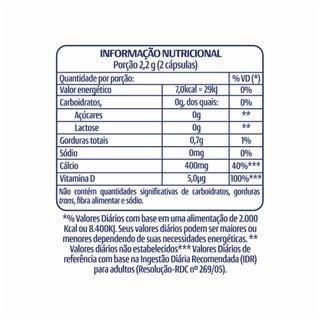 Cálcio 500 D Panvel Vita 60 Cápsulas