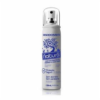 Desodorante Natural Suavetex Spray Com Extratos De Pepino + Cha Verde  Sem Aluminio 120m