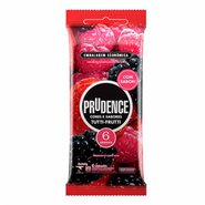 Preservativo Prudence Cores & Sabores Tutti-frutti Com 6 Unidades