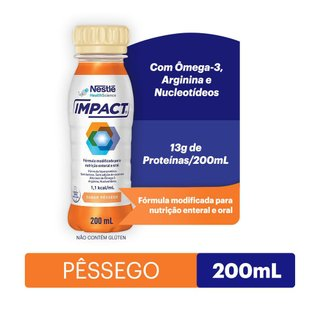 Suplemento Alimentar Impact Torta Pêssego 200ml